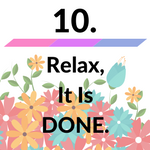 relax it is done icon image for how to manifest money
